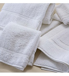 Soft Pure Cotton White Terry Towels With Dobby Border By Kumar Enterprises
