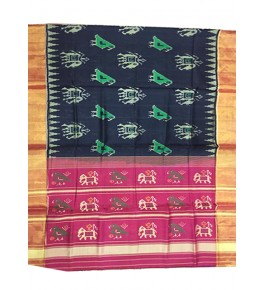 Rajkot Patola 100% Pure Silk Traditional Red and Black Colour Saree For Women
