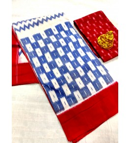 Traditional Handmade Pochampally Ikat Cotton Printed Saree for Women