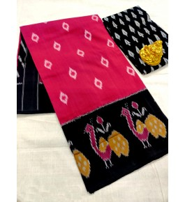 Traditional Pochampally Ikat Handloom Cotton Printed Saree for Women