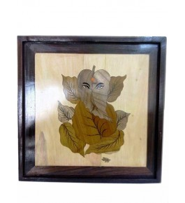 Mysore Rosewood Inlay Handmade Of  Lord Ganesha (Pack Of 1) By Sri Krishna Murthy Fine Arts