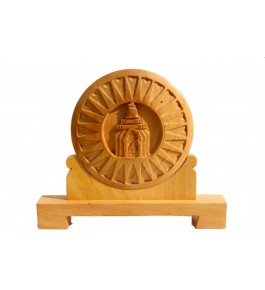 Wooden Handcarved Dharmachakra By P.S. Handicraft