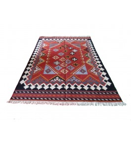 Hand Woven Durable Quality Cotton & Wool Durrie By Pyarelal Maurya