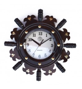 Handcrafted Wooden Wall Clock By Rahul Handicrafts