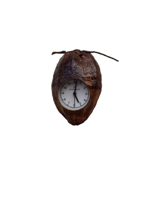 Handcrafted Coconut Husk Wall Clock By Rahul Handicrafts