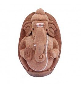 Handcrafted Coconut Husk Ganesha By Rahul Handicrafts