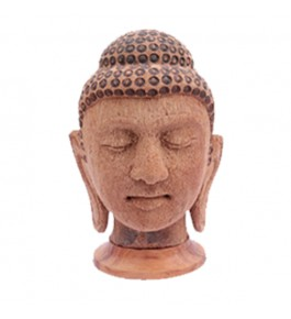 Handcrafted Coconut Husk Buddha Face By Rahul Handicrafts