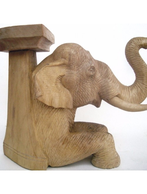Handcrafted Wooden Elephant Showpiece By Rahul Handicrafts