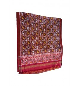 Traditional Patan Patola Double Ikkat Handloom Pure Red Saree For Women By Shree Nageshvari Patola Art