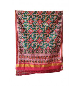 Traditional Patan Patola Double Ikkat Handloom Pure Multicolour Saree For Women By Shree Nageshvari Patola Art