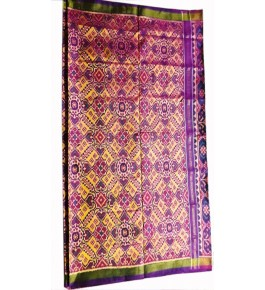 Patan Patola Handloom Multicolor Saree By Shree Nageshvari Patola Art