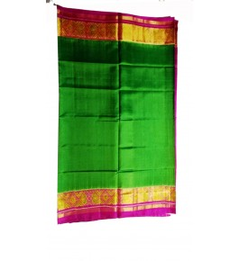 Patan Patola Handloom Green Saree By Shree Nageshvari Patola Art