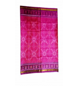 Patan Patola Handloom  Magenta Saree By Shree Nageshvari Patola Art