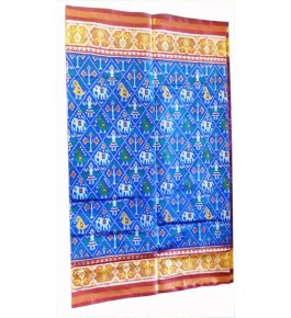 Patan Patola Handloom Blue Saree By Shree Nageshvari Patola Art