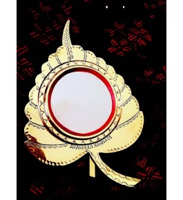 Aranmula Kannadi Golden Leaf Glass Mirror By Aranmula Mirrors