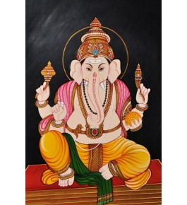 Handmade Ganesha Ji Nirmal Painting By Rekha Arts