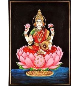 Handmade Beautiful Lakshmi Ji Nirmal Painting By Rekha Arts