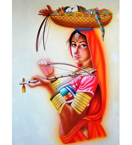 Handmade Women Nirmal Painting By Rekha Arts