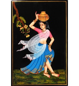 Handmade Beautiful Women Nirmal Painting By Rekha Arts
