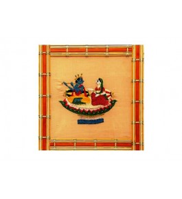 Handwoven Silk Thread Embroidered Traditional Design Chamba Rumal