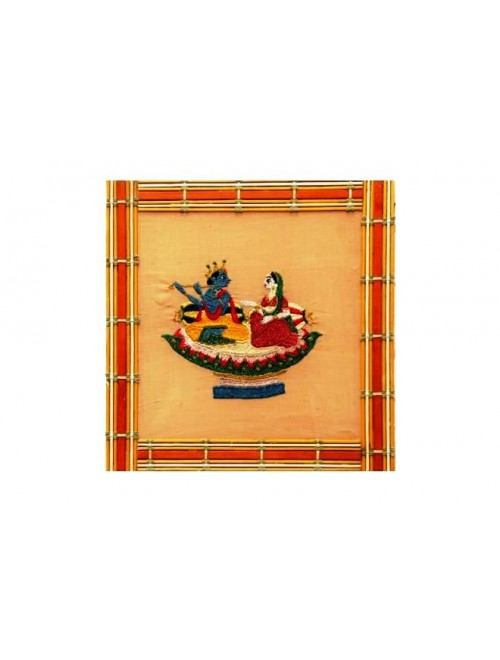 Chamba Rumal Handwoven Silk Thread Embroidered Traditional Design By Chamba Rumal