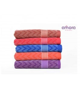 Soft Cotton Face Abella Towel (Set Of 5) By Amora-The Bath Collection A Brand Of Rathi Overseas