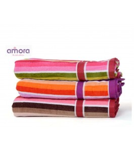 Soft Cotton Face Scuba Towel (Set Of 6) By Amora-The Bath Collection A Brand Of Rathi Overseas