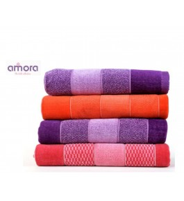 Soft Cotton Face Riva Towel (Set Of 6) By Amora-The Bath Collection A Brand Of Rathi Overseas