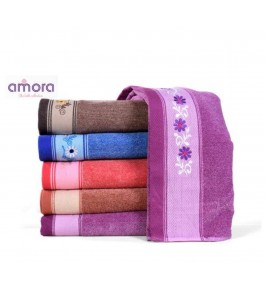 Soft Cotton Face Octivia Towel (Set Of 6) By Amora-The Bath Collection  A Brand Of Rathi Overseas
