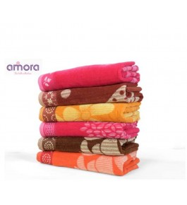 Soft Cotton Face Towel (Set Of 6) By Amora-The Bath Collection A Brand Of Rathi Overseas