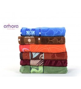 Soft Cotton Face Jerry Towel (Set Of 5) By Amora-The Bath Collection A Brand Of Rathi Overseas
