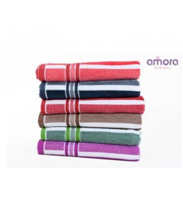 Soft Cotton Face Fabia Towel (Set Of 6) By Amora-The Bath Collection A Brand Of Rathi Overseas