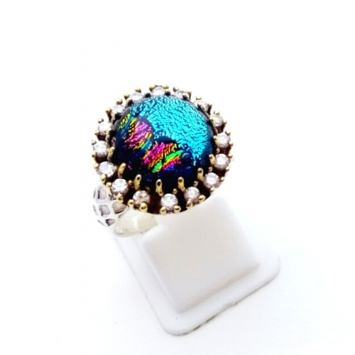 Silver Dykes AD Ring For Girls & Women