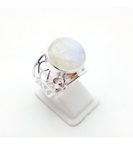 Silver Rainbow Moon Ring For Girls & Women