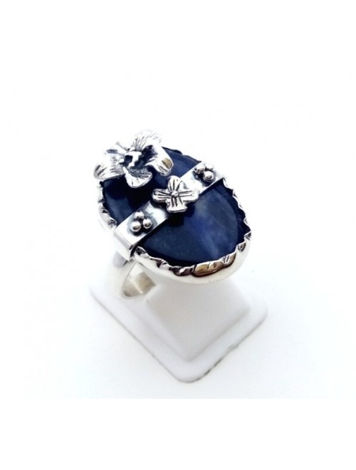 Silver Sapphire Ring For Girls & Women