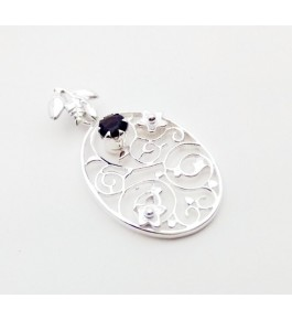 Silver Smokey Pendant For Girls & Women