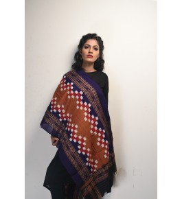 Orissa Ikat Handloom Cotton Dupatta For Women
