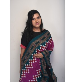 Orissa Ikat Handloom Cotton Multicolor Dupatta For Women