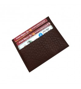 Verceys Brown Leather Credit Debit Card Holder Wallet For Men And Women