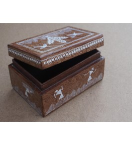 Warli Painting Art Wooden Top Open Box By Adivasi Yuva Seva Sangh