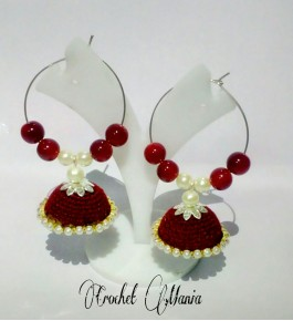 Silk Crochet Thread Handmade Unique Earrings By Crochet Mania