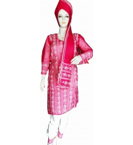 Beautiful Applique Work Red Color Suit For Women By Snowdrop