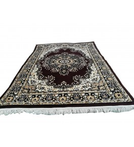 Handmade Carpet Of Bhadohi (8x6 ft) By Sara Carpet Rug's