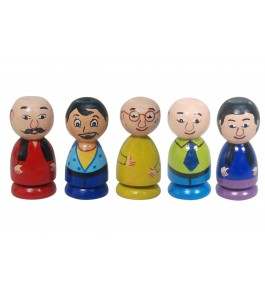 Channapatna Toys & Dolls Handcrafted Wooden Men