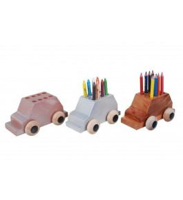 Channapatna Toys & Dolls Handcrafted Wooden Car Pencil Holder