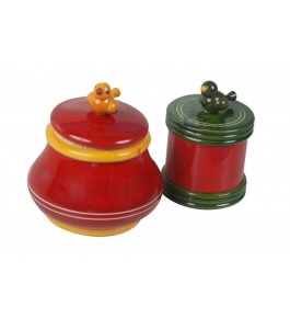 Channapatna Toys & Dolls Handcrafted Wooden Jar Box