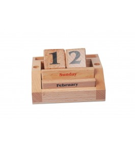Channapatna Toys & Dolls Handcrafted Wooden Calendar