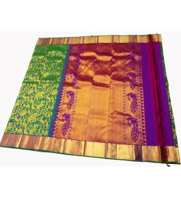 Kancheepuram Silk  Wedding Pure Silk Green Saree For Women & Girls By Sri Sarvalakshmi Silk Sarees