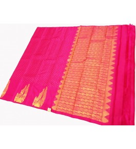 Kancheepuram Silk  Wedding Pure Silk Magenta Saree For Women & Girls By Sri Sarvalakshmi Silk Sarees