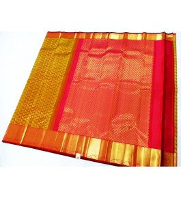 Kancheepuram Silk  Wedding Pure Silk Pale Yellow Saree For Women & Girls By Sri Sarvalakshmi Silk Sarees